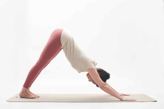 Sun salutations pose 8 - exhale